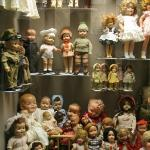 A sampling of huge doll collection on display