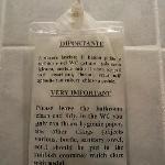 istruzioni in bagno