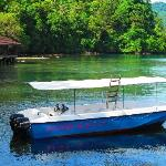 Dive boat and restaurant