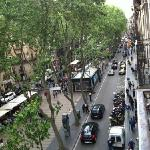 Day time view of Las Ramblas from balcony