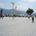Ohrid Square looking back towards the hotel