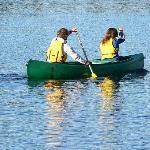 sur le Lac Saint Charles juste devant