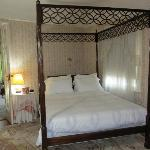 Beautiful antique four poster in the bedroom