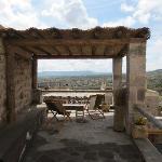 la terrasse, vue de notre chambre