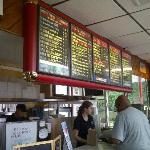 menu board with service bar