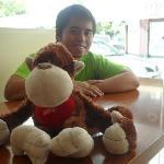 With my Stuffed Orangutan :D