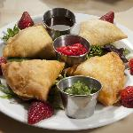 Colorful Indian Cuisine Samosas