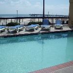 Pool area overlooking the beach