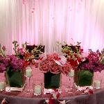 Bride and Groom Reception Table