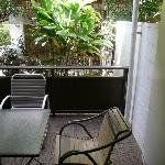 Lanai in first floor unit in back, right side toward rear gate
