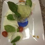 bufala campana con gelato al basilico