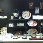 Handpainted high fire stoneware at Scope Gallery studio 19 by Tracie Griffith Tso of Reston, Va
