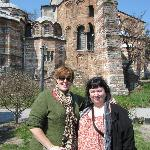 Laura and me at the Chora Church