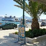 Overlooking the Adamas ferry terminal