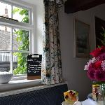 View towards cottages from Breakfast room