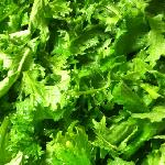 """""""hen pecked mustard greens """" from wise farms. yummy !!!"""