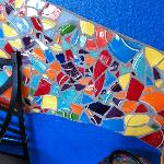 Cool mosaics on every wall