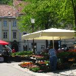 Flower market in a square very near the B&B