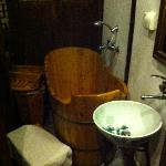 Wooden bath tub
