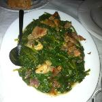 Spinach with pork, a must!