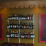 Large collection of beers from around the world