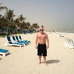 Jebel Ali private beach is endless, swimming is great too!