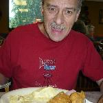 Dad enjoying some of the good food!