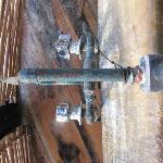 llaves oxidadas de la tina Cabaña 4