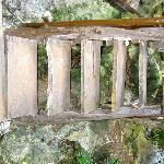 escaleras para subir a la Cabaña 10
