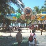Ingreso al Beach Park y a Ponto das Dunas