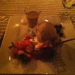 Dessert from dinner! Lots of Baileys!