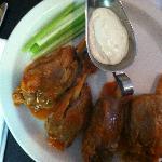 Pork drumsticks with buffalo sauce