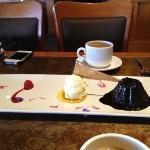 Dessert - molton chocolate lava cake