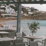 Platis Yialos beach 10 mins walk from Hotel