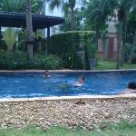 Very long lagoon style pool