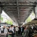 lots of stalls under the metro bridge