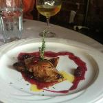 Confit Of Duck Over Concassée Of Apple