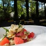 Dungeness crab salad with endives and grapefruit