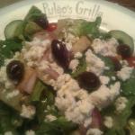 Greek Salad with Grilled Chicken.  Bravo!