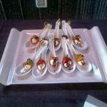Each accompanied with a delectable appetizer