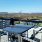 Relaxing patio overlooking the vineyards