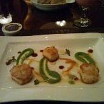 Grilled scallops. Real juicy, just wish there were more than 3!