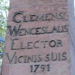 Clemens Wenzeslaus column outside