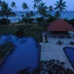 View of the pool in the wee hours of the morning
