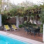 The pool outside area