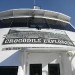 Boot zur Krokodilfarm