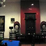 Javanese antiques and artcrafts in the restaurant