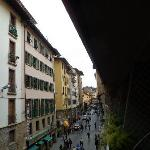 View from balcony. Thats the Ponte Vecchio, 1/2 block forward. Vechhio