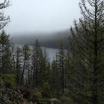 Trail view of Red Fish Lake.