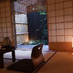 Chambre traditionnelle à tatami avec jardin privatif